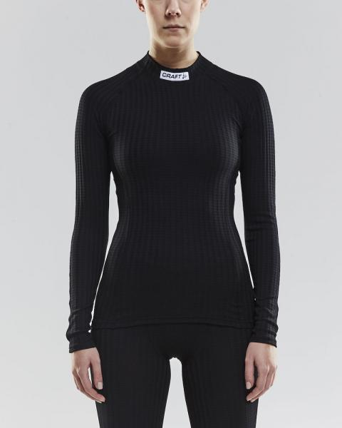 PROGRESS BASELAYER CN, langarm, Damen-BLACK-